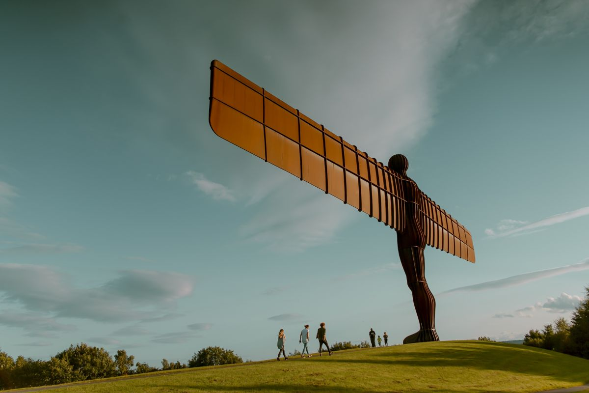 Angel of the North image which lends the Northern icon imagery to the subject of finding the best solicitors North East UK.